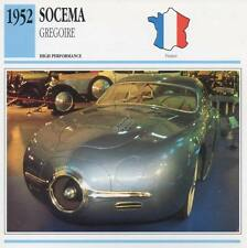 1952 SOCEMA Gregoire Classic Car Photo/Info Maxi Card