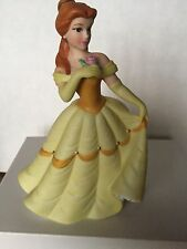 "Disney Figurine Belle Beauty & the Beast  6""  Porcelain Bisque China in Box"