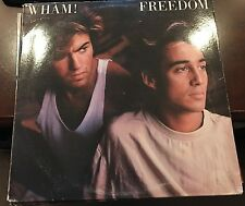 "WHAM! GEORGE MICHAEL FREEDOM REMIX HEARTBEAT 12"" 1985 COL 44-05238"
