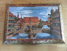 """16.5"""" E OTTO SCHMIDT COLLECTOR TIN/LARGE BOX/W GERMANY/NURNBERG/1988/HINGED!"""