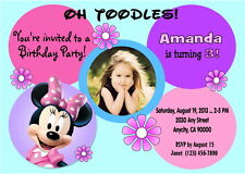 MINNIE MOUSE CUSTOM PRINTABLE BIRTHDAY PARTY INVITATION & FREE THANK U CARD