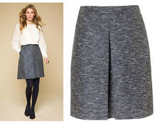 *MONSOON*Blue Tweed Lori A-Line Mini Skirt size-8  EU-36