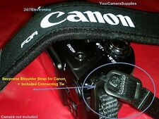 NEOPRENE SHOULDER STRAP For CANON POWERSHOT SX160 IS SX160IS + 2 CONNECTING TIES