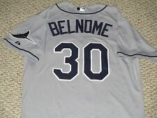 Vince Belnome size 46 #30 Tampa Bay Rays 2015 Game jersey Road Gray MLB Hologram