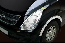 CHROME HEAD LIGHT COVER MOLDING 2P MADE IN KOREA for HYUNDAI GRAND STAREX:H1 07~