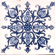 9 MEXICAN TILES WALL FLOOR USE TALAVERA MEXICO CERAMIC HANDMADE POTTERY C#088