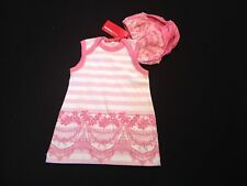 'OH BABY' PINK AND WHITE DRESS AND PANTS 0-3 MONTHS RRP £39 NOW £8.50