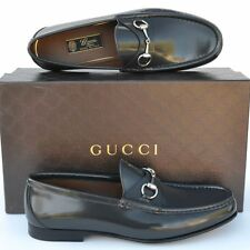 GUCCI New sz UK 8 - US 9 Designer Horsebit Mens Leather Dress Loafers Shoes