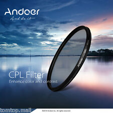 Andoer 58mm Digital Slim CPL Circular Polarizer Glass Filter for Canon NEW PV0L