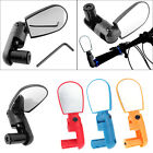 Mini Rotate Cycling Bike Handlebar Wide Angle Rearview Back Rear view Mirror
