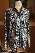ZENERGY BY CHICOs Black And White ZIPPER JACKET Sz 3