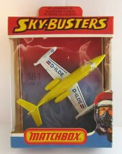 Matchbox Skybusters SB-1 Lear Jet - Yellow/White D-ILDE - Mint/Boxed