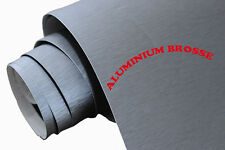 50 x 20 cm FILM VINYLE ALU BROSSE THERMOFORMABLE CAR WRAP TUNING DISCOUNT