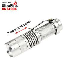 Ultrafire SK68 3500 LM XPE Q5 LED Flashlight Zoomable Torch Light #E US Stock MT