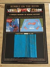 Lennox Lewis v Mike Tyson Original Piece Of Boxing Ring Canvas