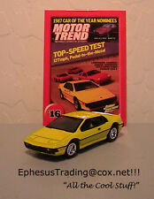 Johnny Lightning Motor Trend 1980 Lotus Esprit Turbo #16 Yellow w/Tan 1/64 MINT!