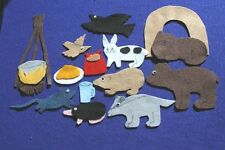 """Bear Snores On"" handmade felt/ flannel board children story set"