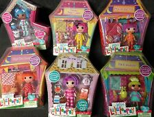 Lalaloopsy Mini RARE 6 Dolls Pillow Featherbed/Mittens/Crumbs/Peanut/Peppy/Pix