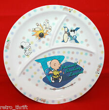 Peanuts Snoopy Shelina Melamine Ware Children Child Divided Plate Bowling League