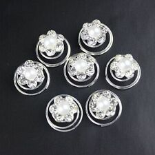Wedding Bridal Accessory Twist Pins Flower Spirals Pearl Hair Clips Crystal