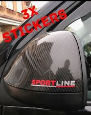 VW Transporter T6 T5 T4 Caddy 3x Sportline Mirror Stickers Grill Dashboard, Back