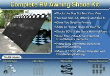 RV Awning Shade Black Awning Shade Screen Panel Complete Kit 8x13