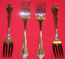 ONEIDA True ARBOR ROSE Set 4 8 SALAD FORKS Pastry Dessert 18/8 STAINLESS SS NEW