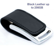 256GB Leather & Metal Chrome USB 2 Key Ring Memory Stick Flash Thumb Drive FAT32