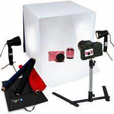 "60cm/24"" Cube Photography Shooting Light Tent Photo Studio Backdrops Kit bo"