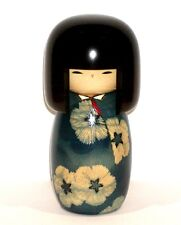 "SIGNED OUTSTANDING JAPANESE WOOD KOKESHI DOLL ""AIKO"" LOVE &HAPPINESS BY USABURO!"