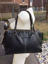 Kate Spade Foster Black Pebbled Large Satchel/handbag