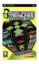 SONY PSP MIDWAY ARCADE TREASURES VIDEO GAME COMPLETE WITH MANUAL FREE P&P