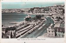 Carte postale ancienne PORTUGAL ESTORIL vista parcial timbrée 1956
