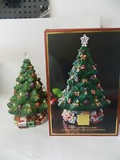 Lenox Christmas Tree Centerpiece Table Top  Music & Candle Lights Original Box