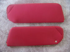 1979-81 camaro new sun visors red  foam back cloth