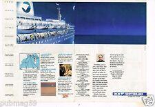 Publicité advertising 1990 (2 pages) Bateau Ferry SNCM Ferryterranée