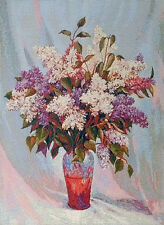 """Beautiful High Quality Wall Tapestry for Framing Bouquet of Lilacs 15.4 x 22"""""""