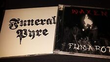 FUNERAL PYRE Rare demos Black Metal 2 CD Lot Waxen Fumaroth Blasphemy Cult NEW