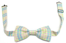 Pastel Plaid Handmade Vintage Style Adjustable Bow Tie *NEW*