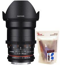 Samyang 35mm T1.5 AS UMC Cine VDSLR II Version 2 Wide Angle Lens for Canon EF