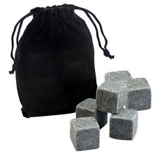 6PC/Set Whisky Ice Stones Cooler Drinks Cubes Whiskey Scotch Rocks Granite Tools