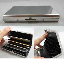 New Stainless Steel ID Credit Card Mini Wallet Holder Pocket Case Box 6 Slots