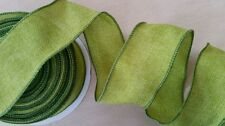 """LION RIBBON Wired Edge """"SOLITUDE"""" GREEN 2½""""x25yd Decor,Wreaths,Swags,Tablescapes"""