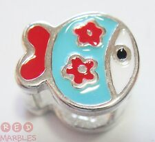 New Sterling Silver 925 Kids Fish Charm Bead. Pet Lovers. Little Rhona Sutton.