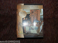 Newport Coast Collection Country Heritage Water Wheel Fountain (Dual Power) NEW
