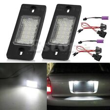 1 Pair Number License Plate LED Light Lamp For Porsche Cayenne VW Touareg