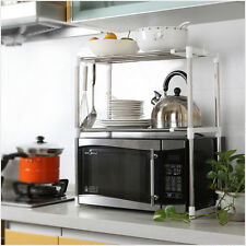 Universal Microwave Oven Stainless Steel Shelf Storage Rack Adjustable DurableMD