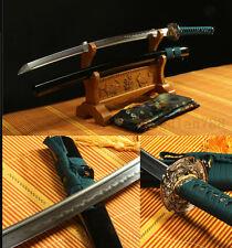 "41"" DAMASCUS FOLDED STEEL CLAY TEMPERED DRAGON JAPANESE SAMURAI SWORD KATANA"
