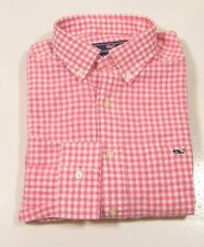 Vineyard Vines Men's Gorton Gingham Linen Blend Check Whale Shirt