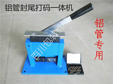 aluminum tube crimper sealer for tooth paste cosmetic tubes with expiration code